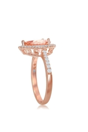 Xtras Pear Morganite Ring - Front full body