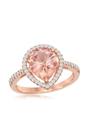 Xtras Pear Morganite Ring - Front cropped