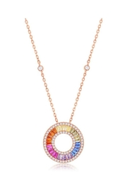 Xtras Rainbow Baguette Necklace - Product Mini Image