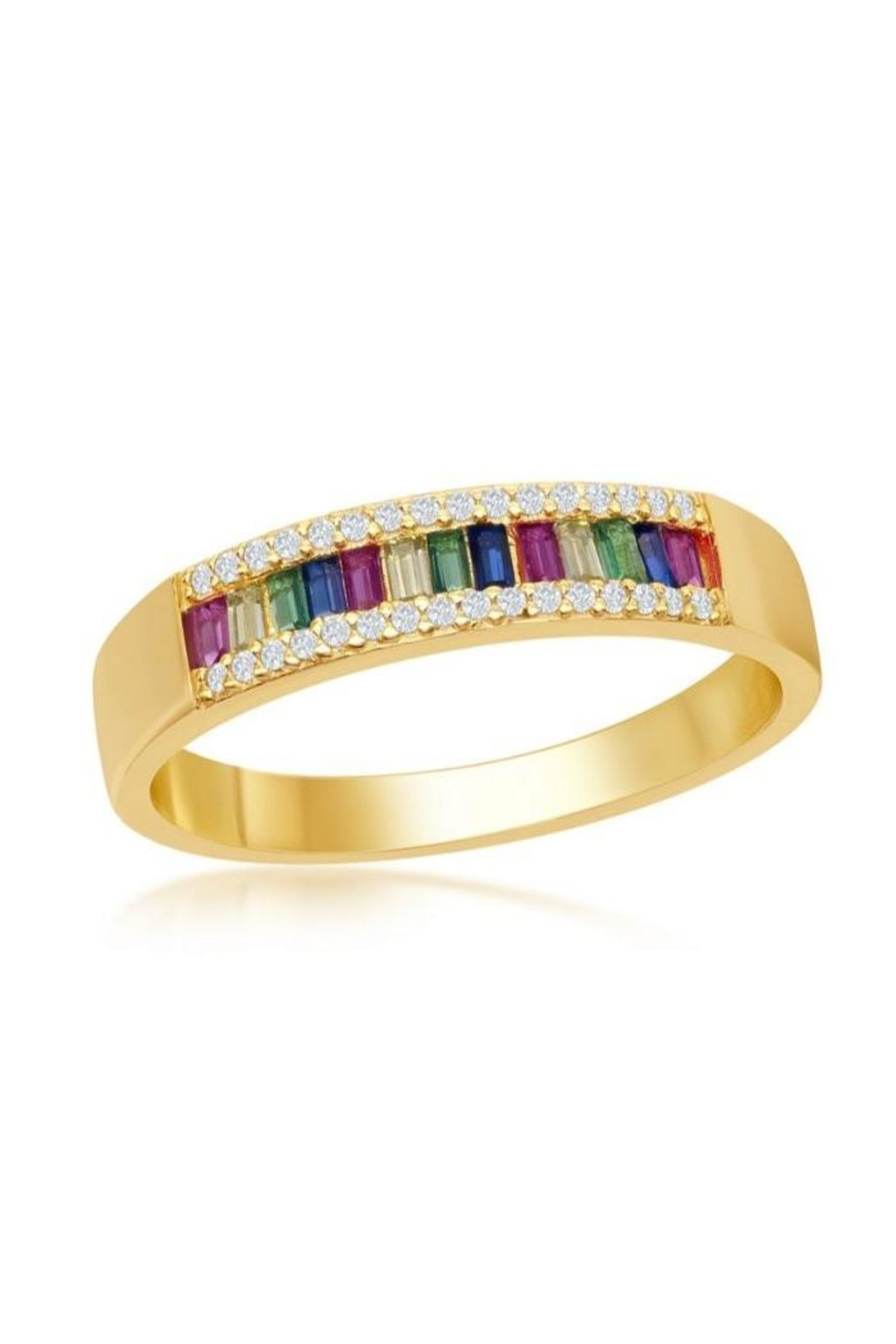 Xtras Rainbow Gold Band - Front Cropped Image