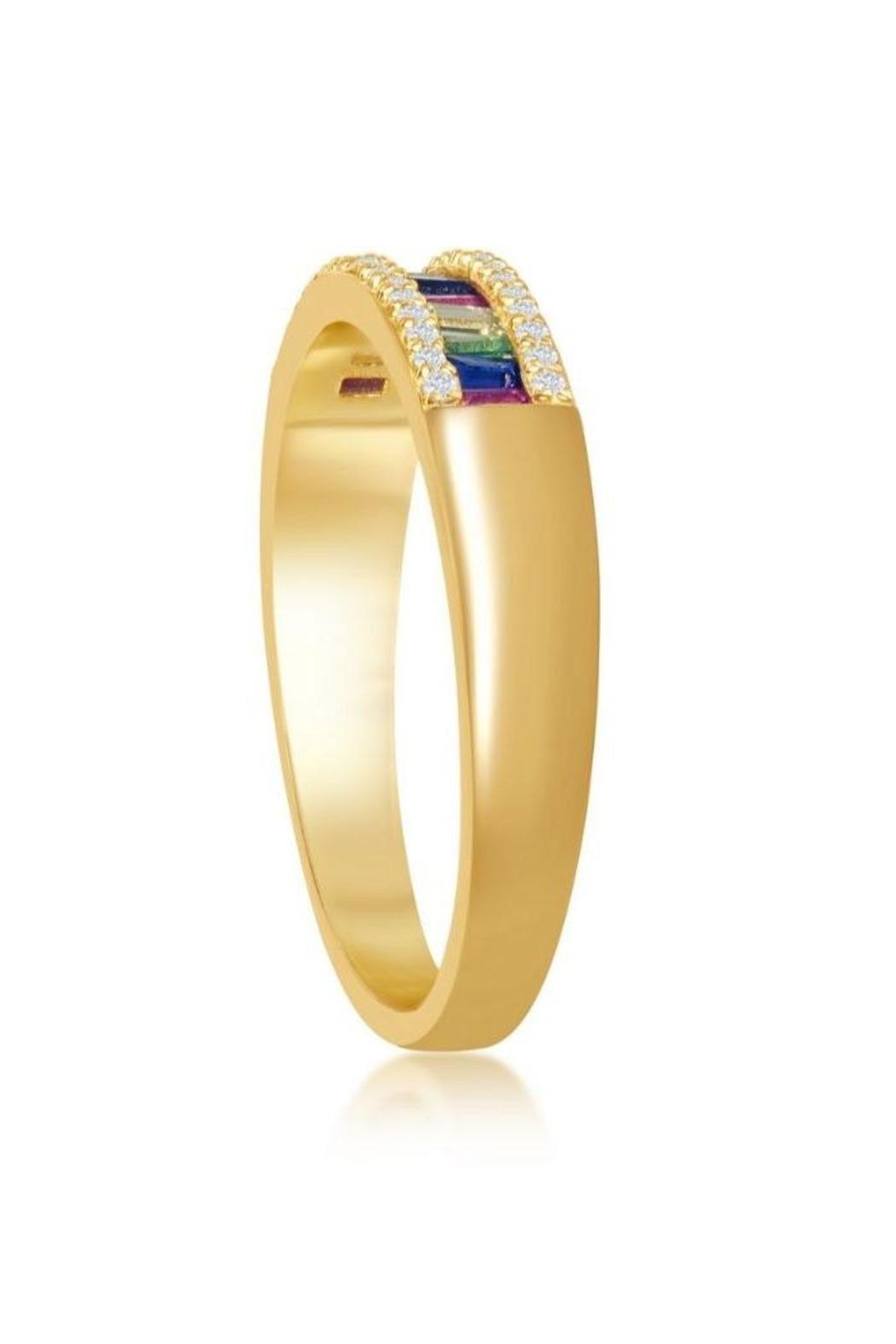 Xtras Rainbow Gold Band - Front Full Image