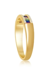 Xtras Rainbow Gold Band - Front full body