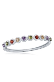 Xtras Rainbow Halo Bangle - Front cropped