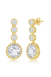 Xtras Round Dangling Earrings - Front cropped
