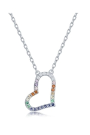 Xtras Sideways Heart Necklace - Product Mini Image