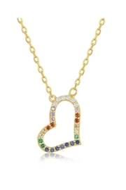 Xtras Sideways Heart Necklace - Front cropped
