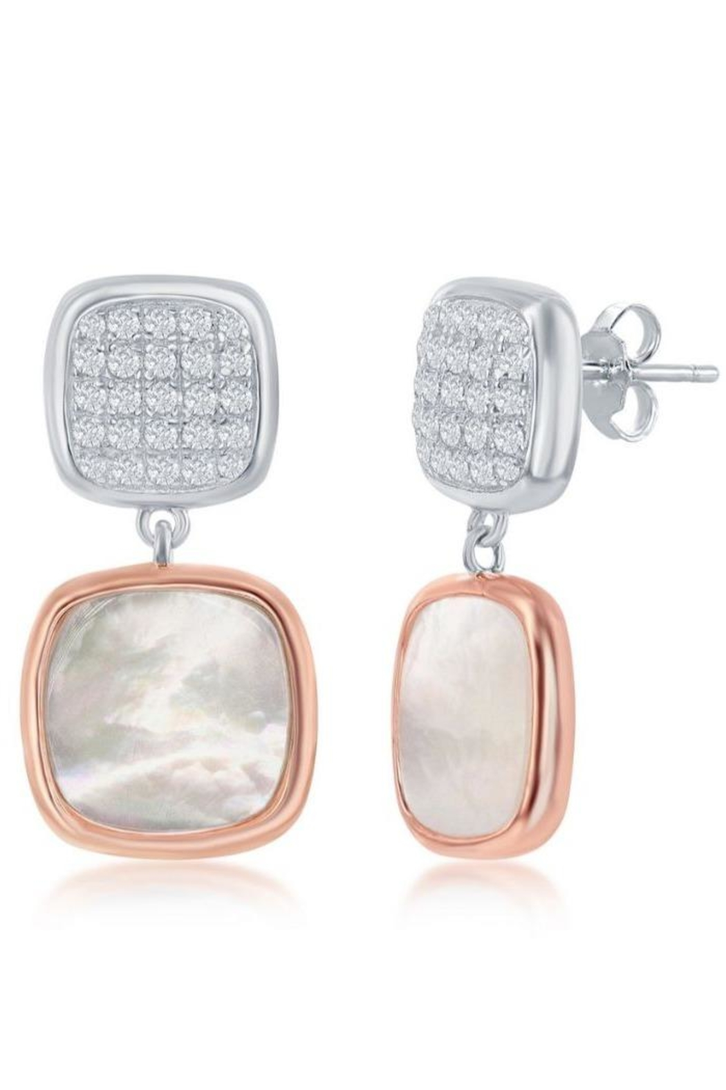 Xtras Square Mop Earrings - Main Image