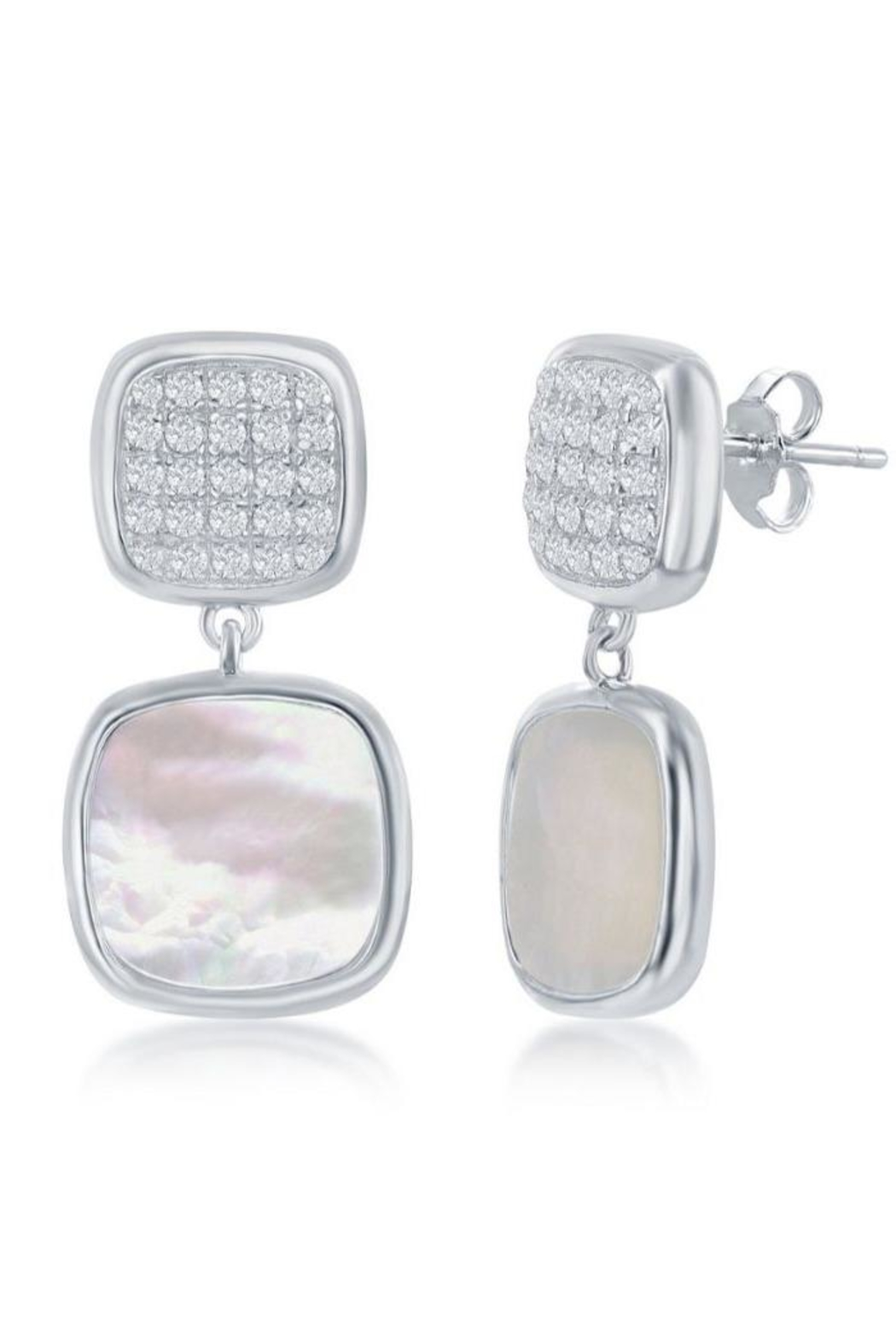 Xtras Square Mop Earrings - Front Cropped Image