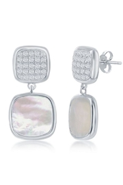 Xtras Square Mop Earrings - Front cropped