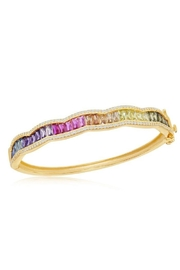 Xtras Wavy Baguette Bangle - Product Mini Image