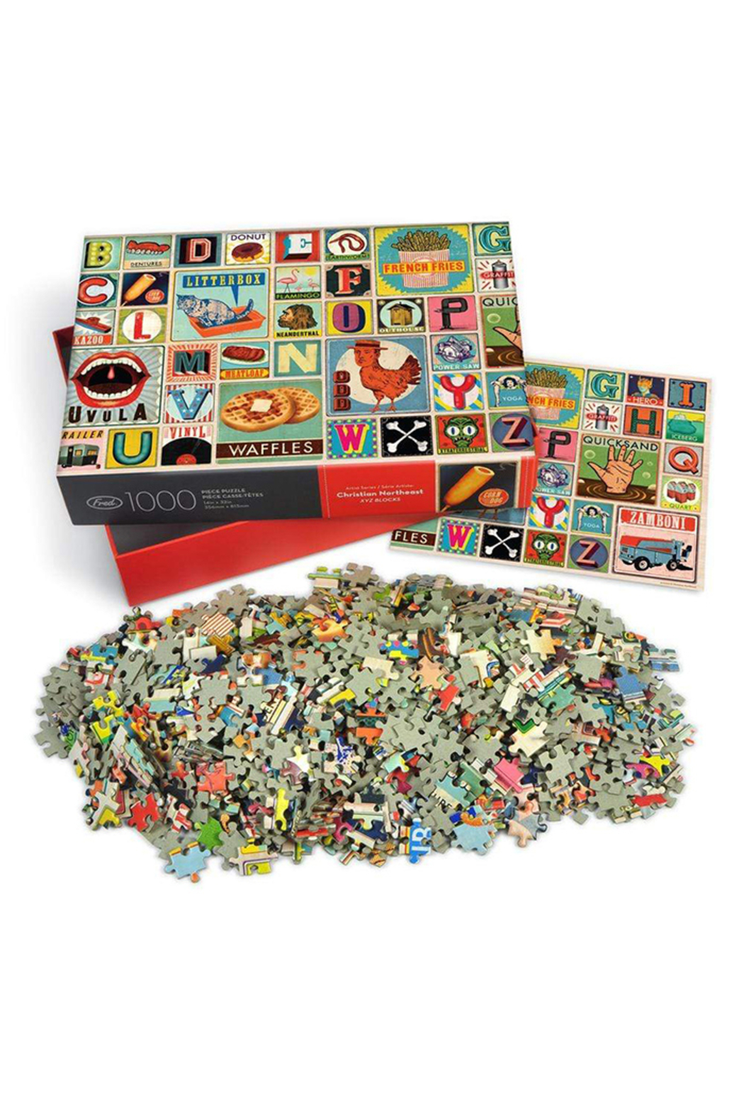 Fred Puzzles XYZ Blocks 1000 Piece Puzzle - Front Full Image