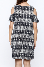 y&i clothing boutique Black Printed Oversized Dress - Back cropped