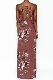 y&i clothing boutique Blush Floral Maxi Dress - Back cropped