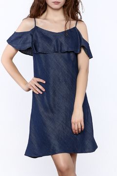 Shoptiques Product: Indigo Cold-Shoulder Dress
