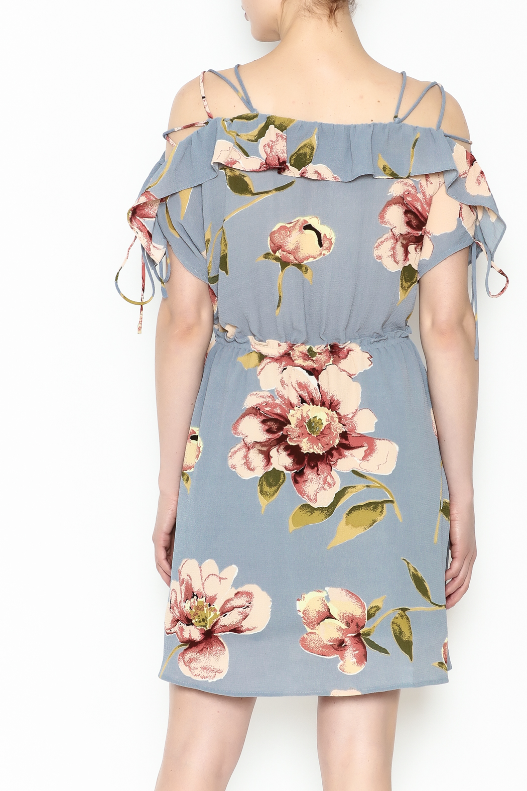 y&i clothing boutique Courtney Floral Dress - Back Cropped Image