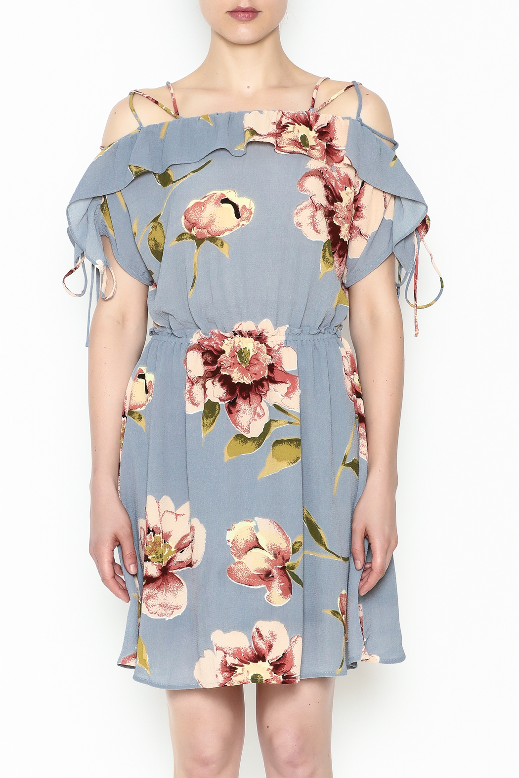 y&i clothing boutique Courtney Floral Dress - Front Full Image