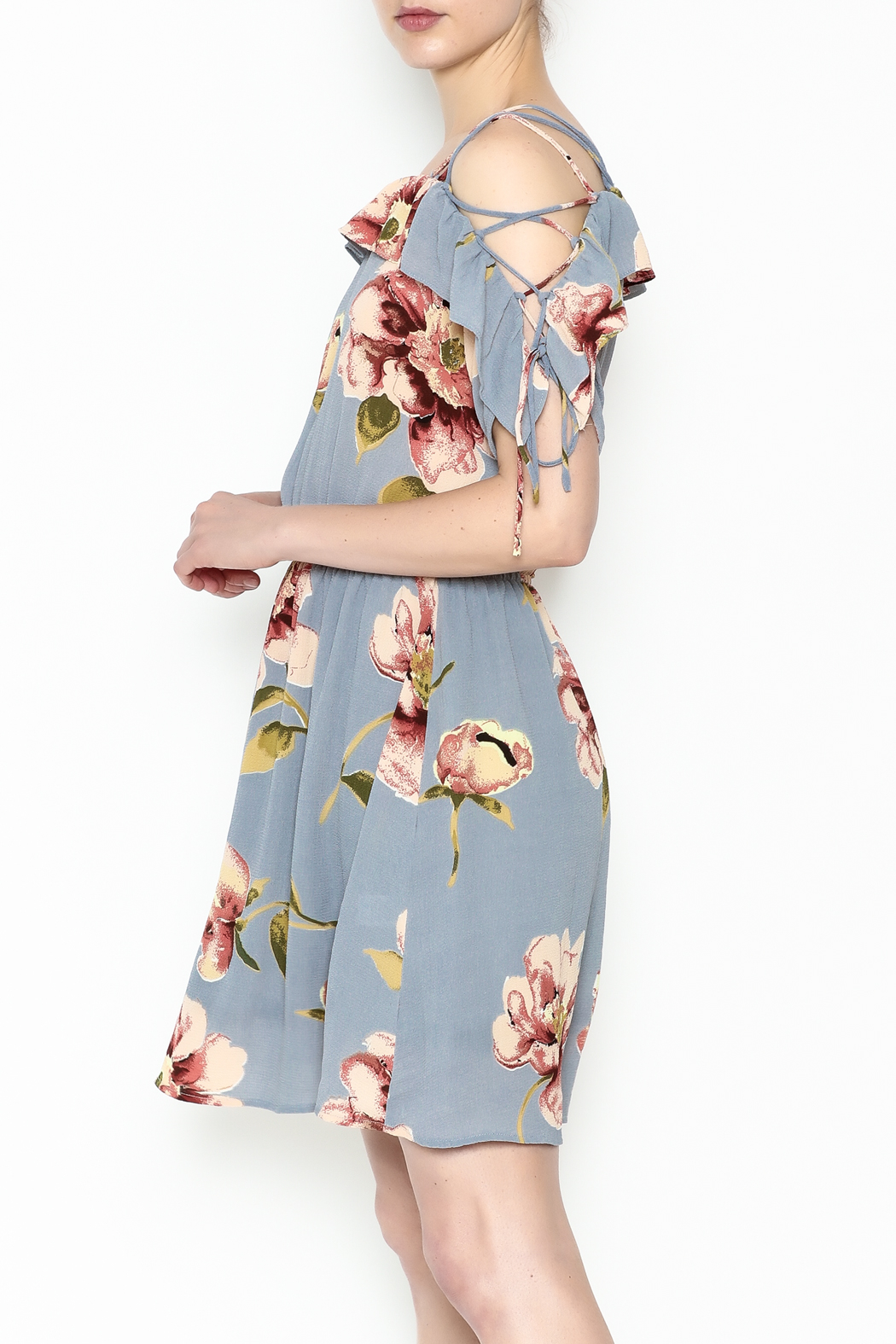y&i clothing boutique Courtney Floral Dress - Main Image