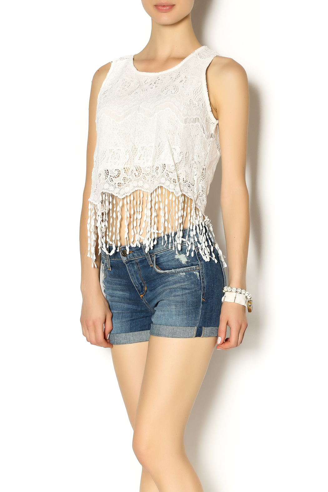 Y i clothing boutique crochet fringe top from marina for Boutique tops