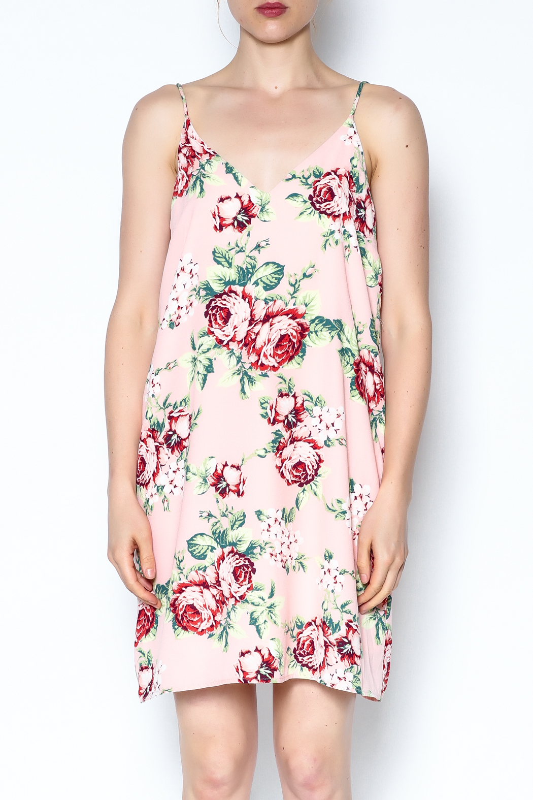 y&i clothing boutique Floral Cami Dress - Front Full Image