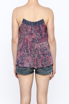 y&i clothing boutique Floral Lace Up Top - Alternate List Image