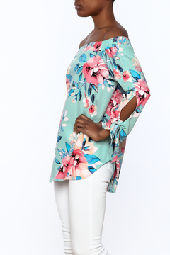 y&i clothing boutique Sage Floral Top - Product List Image
