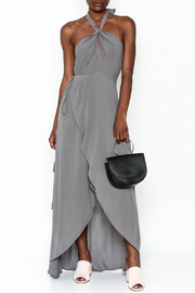 y&i clothing boutique Halter Neck Maxi Dress - Front cropped