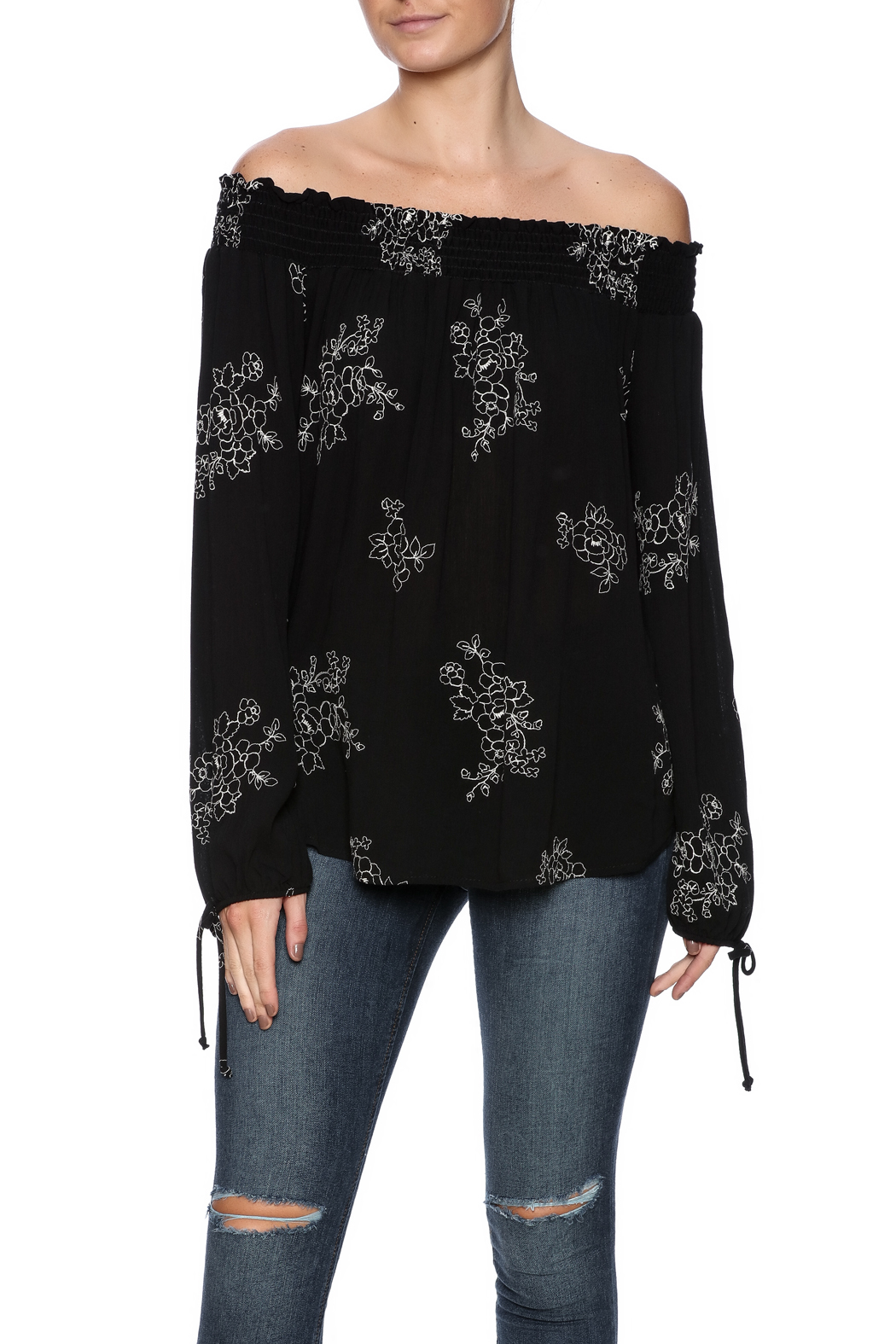 Y i clothing boutique julia floral top from marina for Boutique tops
