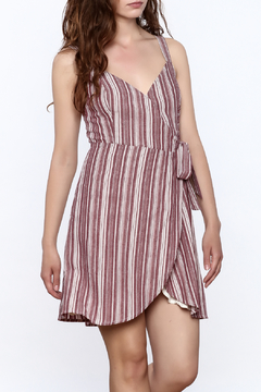 Shoptiques Product: Linen Stripe Wrap Dress