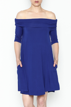 y&i clothing boutique Off Shoulder Bamboo Dress - Product List Image