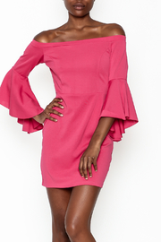 y&i clothing boutique Off Shoulder Pink Dress - Product Mini Image