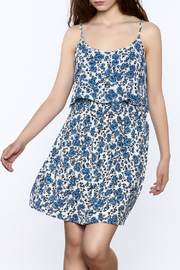 y&i clothing boutique Popover Floral Dress - Product Mini Image
