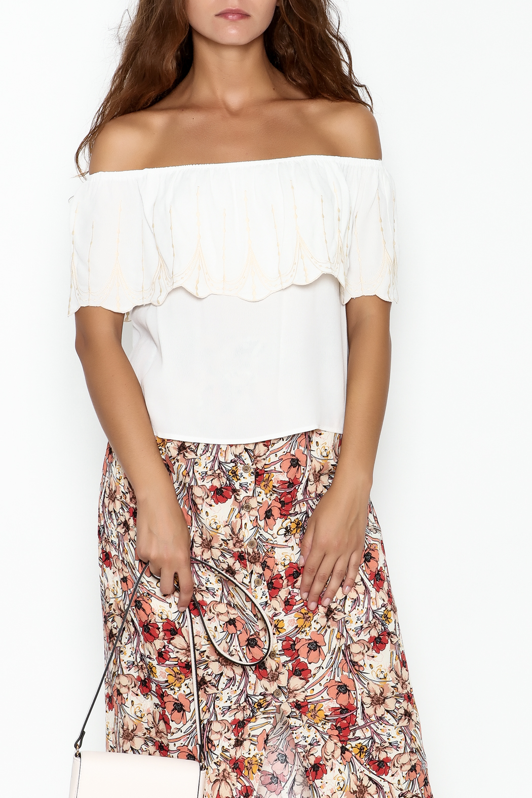 y&i clothing boutique Reese Scallop Top - Main Image