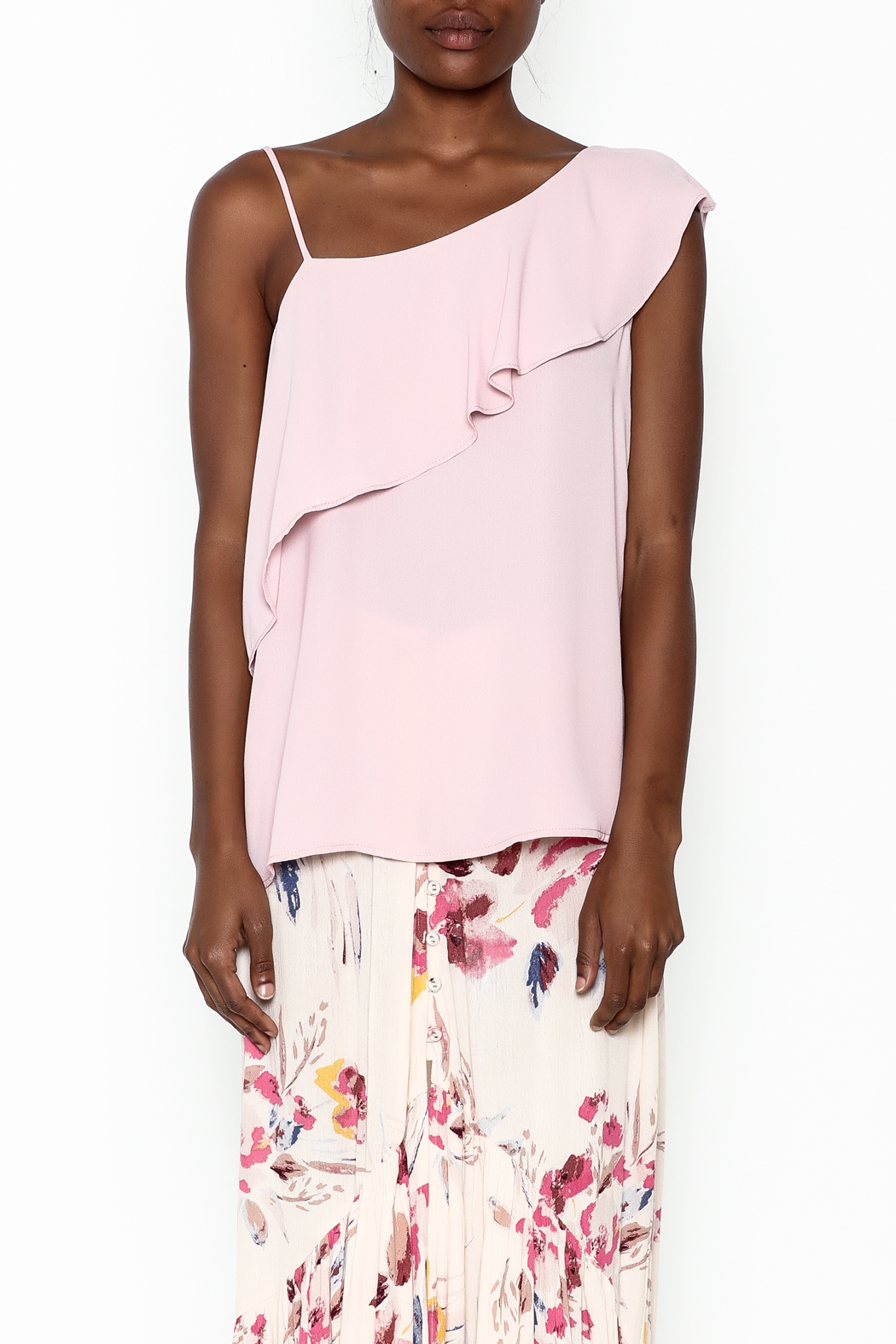 y&i clothing boutique Pink Ruffle Top - Main Image