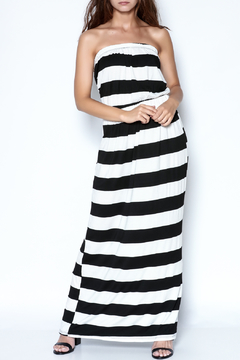 Shoptiques Product: Strapless Striped Maxi Dress