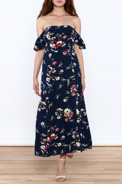 Shoptiques Product: Whimsey Floral Off Shoulder Maxi Dress