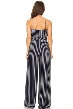 y&i clothing boutique Navy Jumpsuit - Alternate List Image