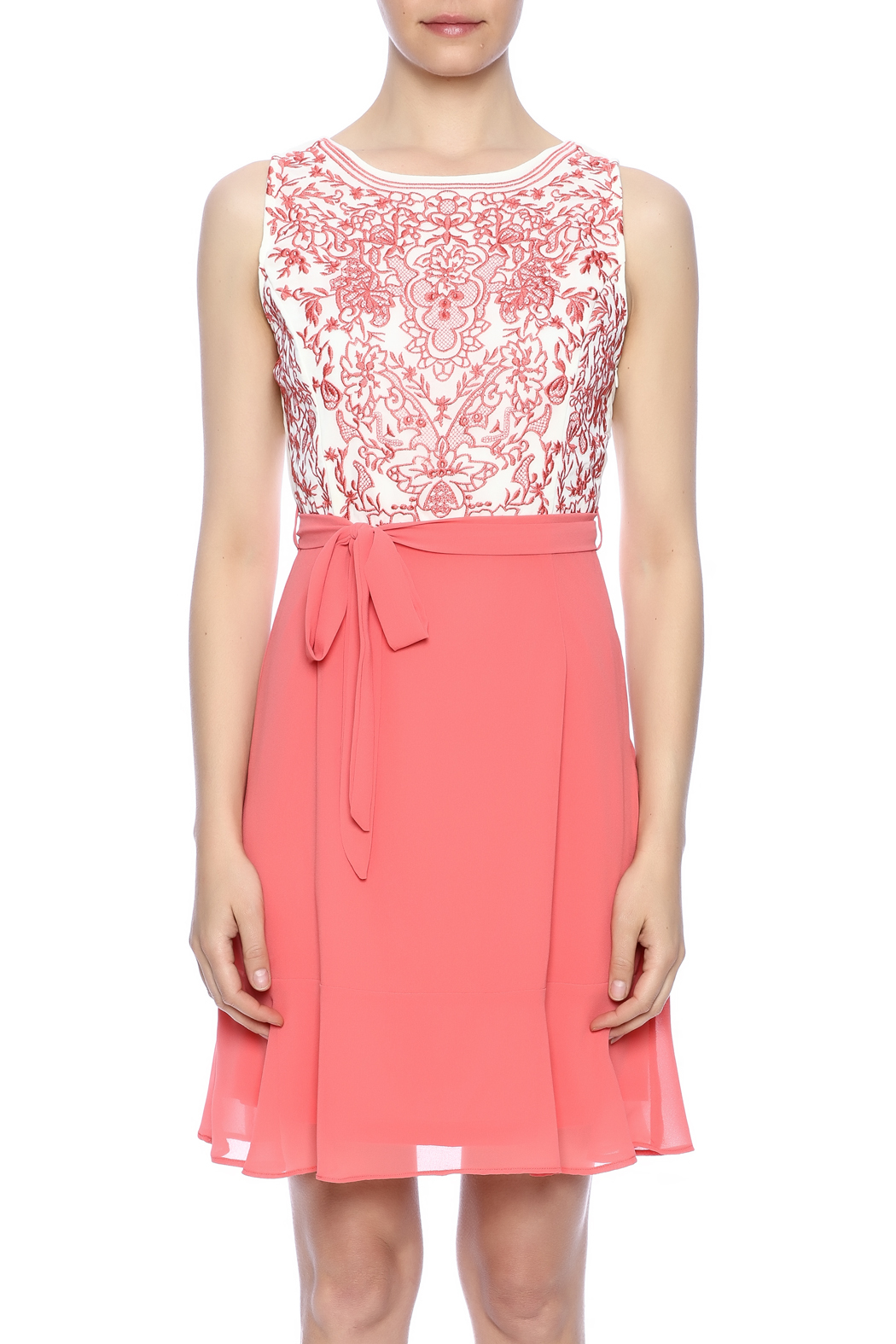 Ya Los Angeles Coral Embroidered Dress - Side Cropped Image