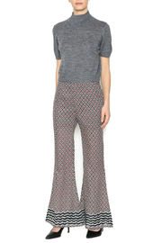Ya las angeles Fuchsia Print Palazzo Pants - Front full body