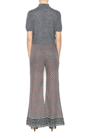 Ya las angeles Fuchsia Print Palazzo Pants - Side cropped