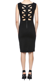 Ya-Los Angeles Black Shift Dress - Back cropped