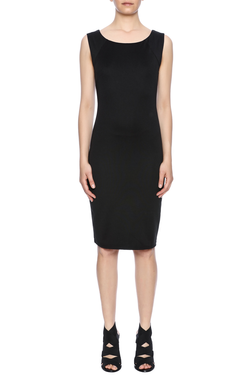 Ya-Los Angeles Black Shift Dress - Front Cropped Image