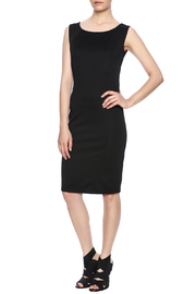 Ya-Los Angeles Black Shift Dress - Front full body