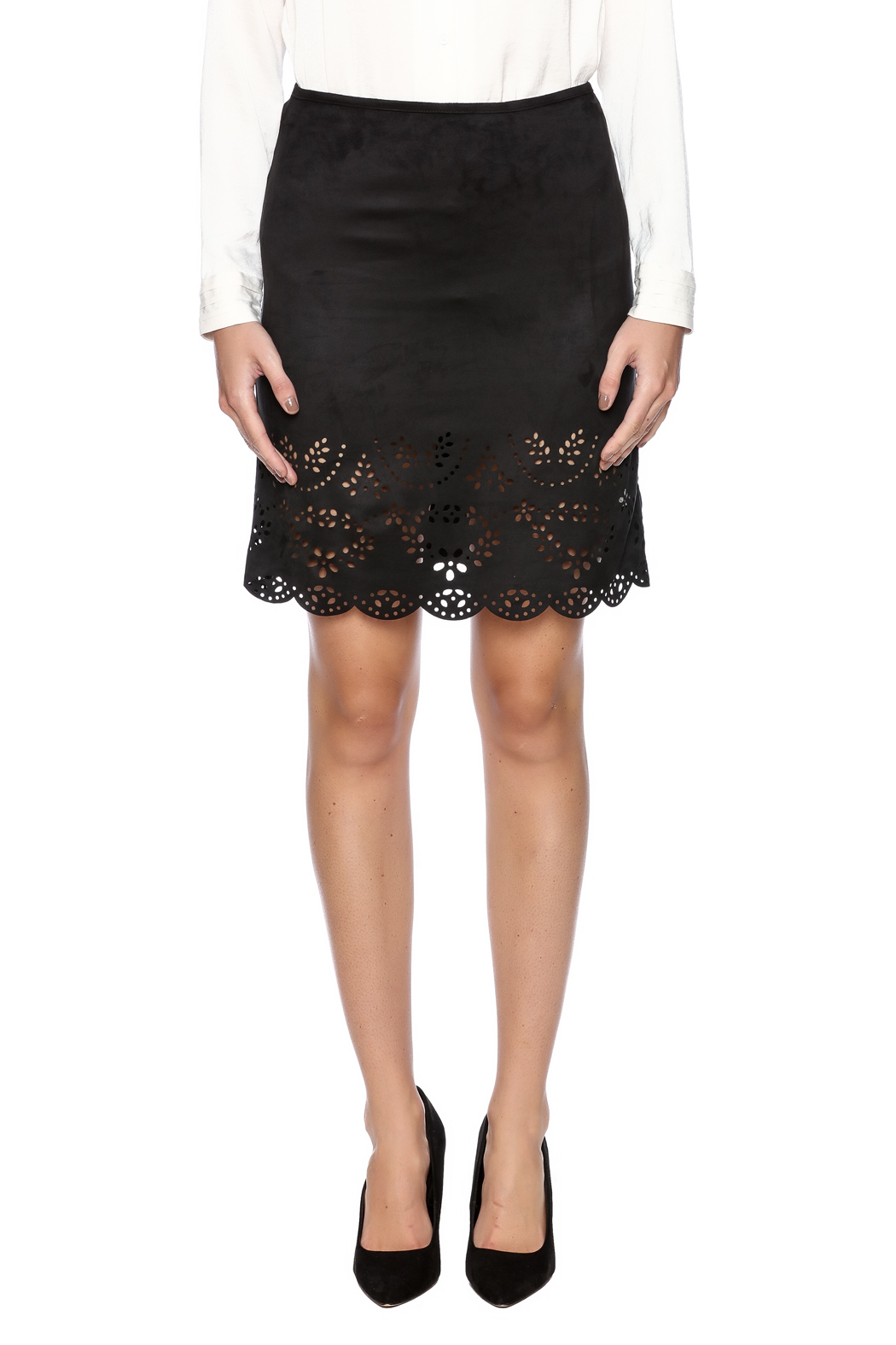 Ya Los Angeles Cut Out Design Skirt - Side Cropped Image