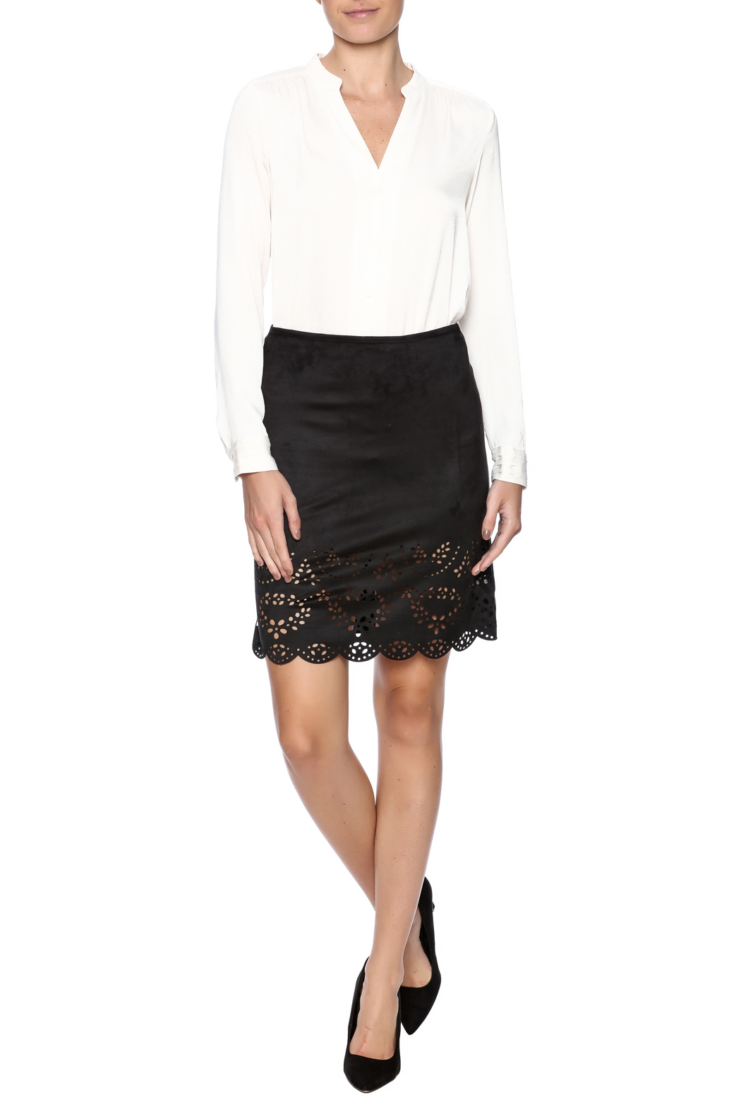 Ya Los Angeles Cut Out Design Skirt - Front Full Image