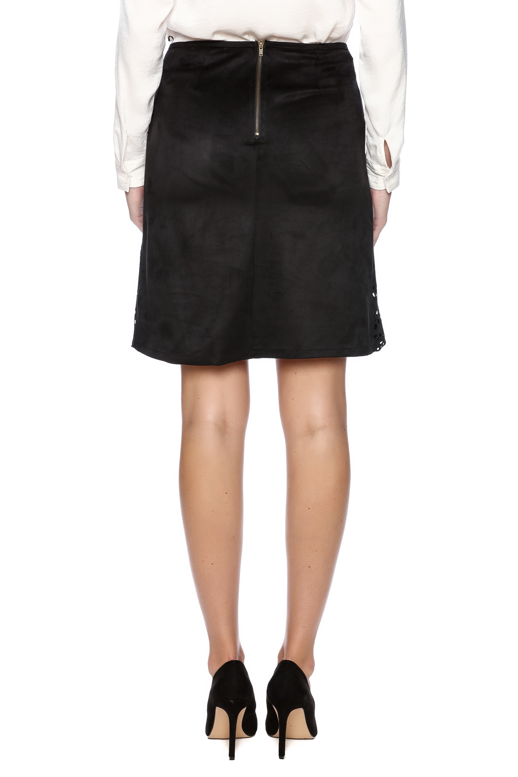 Ya Los Angeles Cut Out Design Skirt - Back Cropped Image