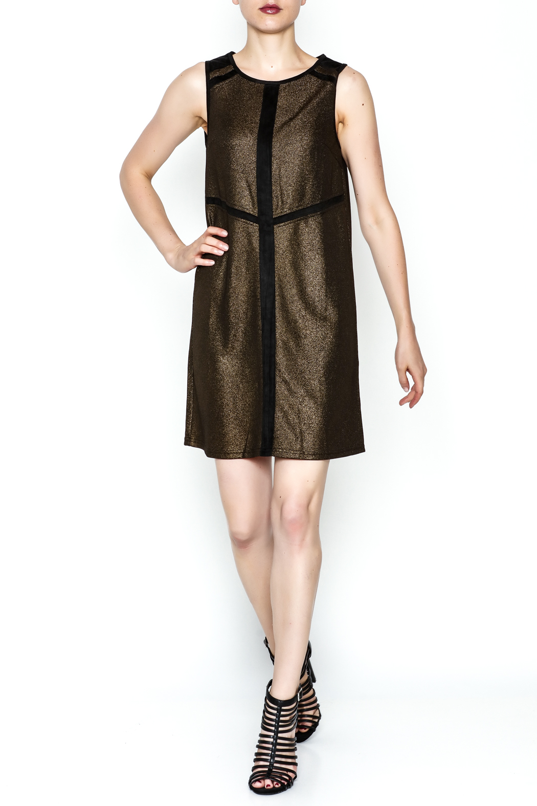 Ya Los Angeles Metallic Shimmer Sheath - Side Cropped Image