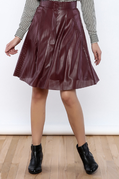 Ya Los Angeles Perforated Faux Leather Skirt - Product List Image
