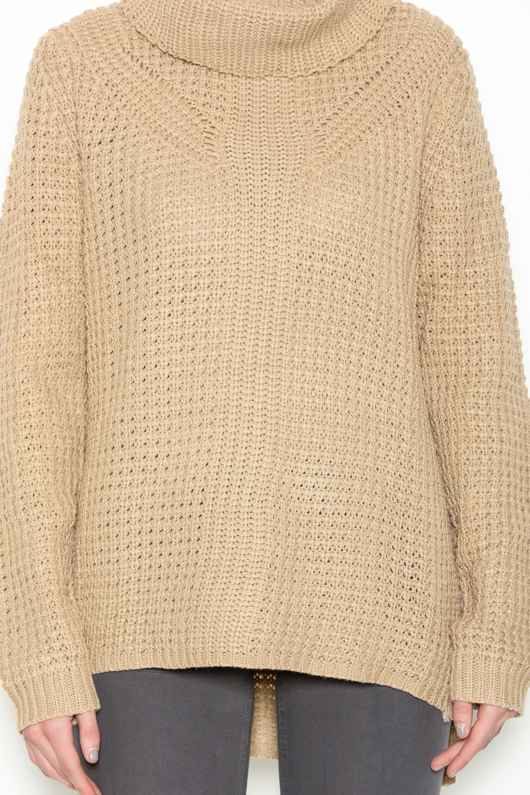 Ya Los Angeles Taupe Turtleneck Sweater from New Jersey by My ...