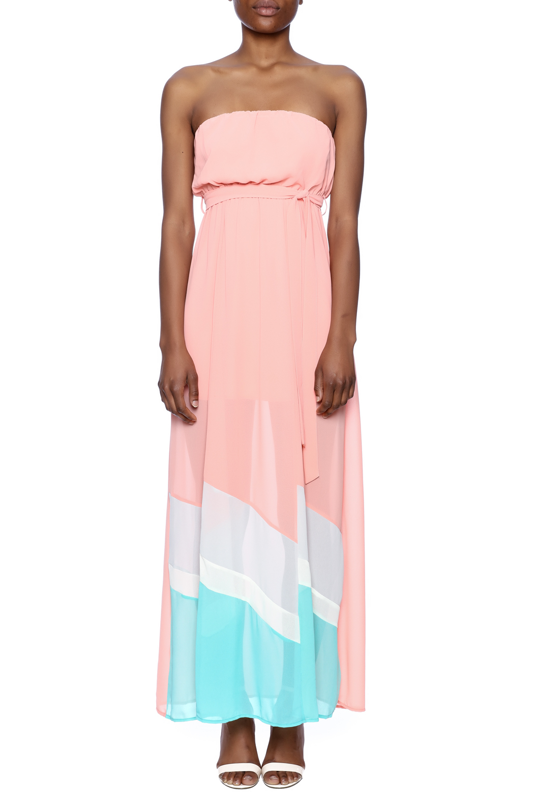 Ya Los Angeles Strapless Maxi Dress - Front Cropped Image