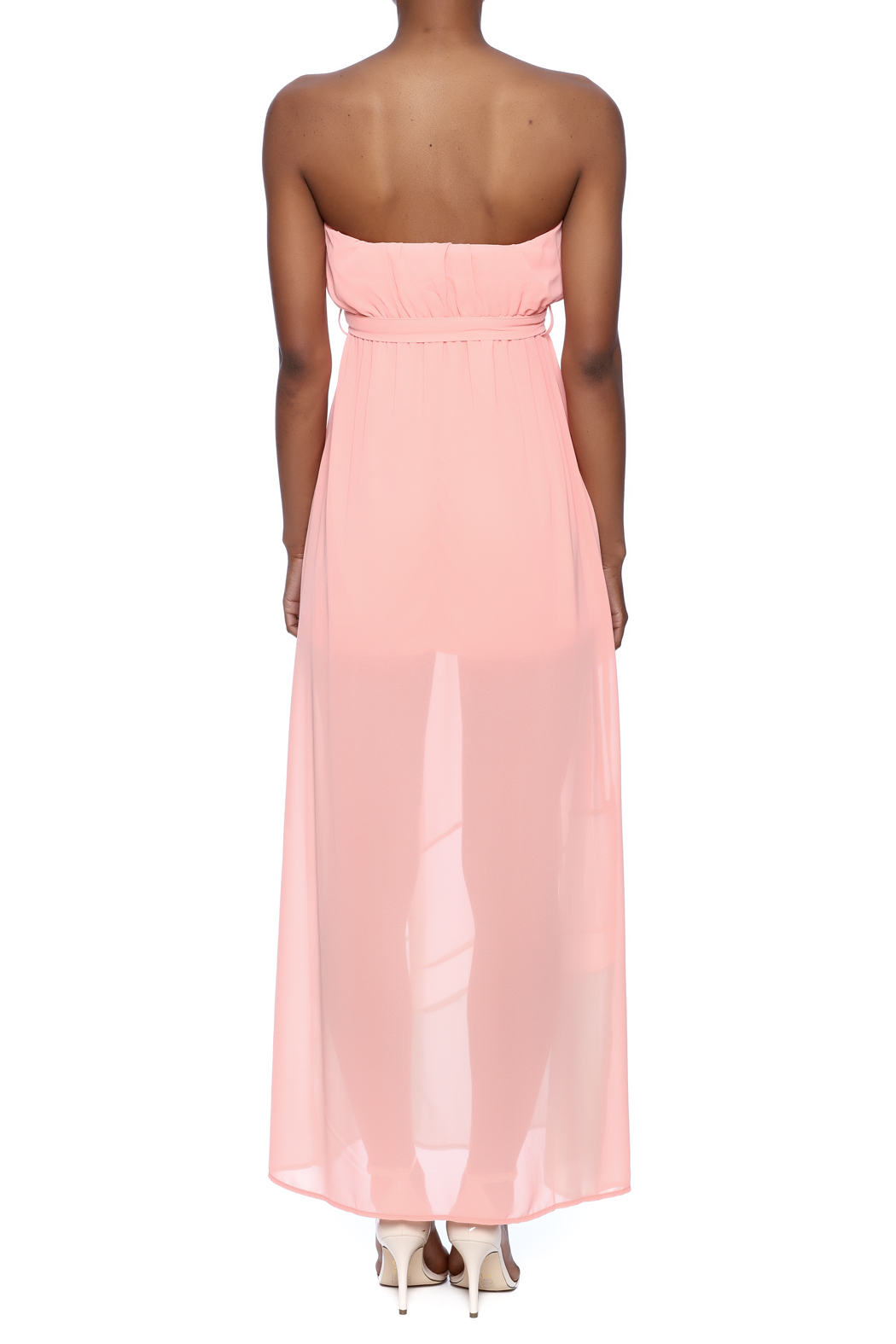 Ya Los Angeles Strapless Maxi Dress - Back Cropped Image